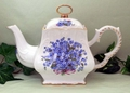 Blue Forget Me Not 8C Square Teapot