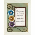 With Appreciation - Framed Christian Tabletop Home Decor