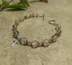 Woman's Prayer Bracelet - Pink