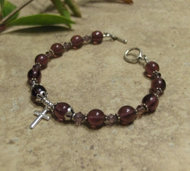 Woman's Prayer Bracelet - Purple