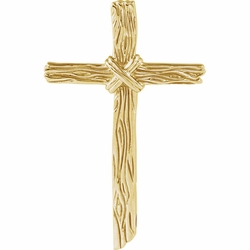 Woodgrain Cross Pendant - 6 Options Available