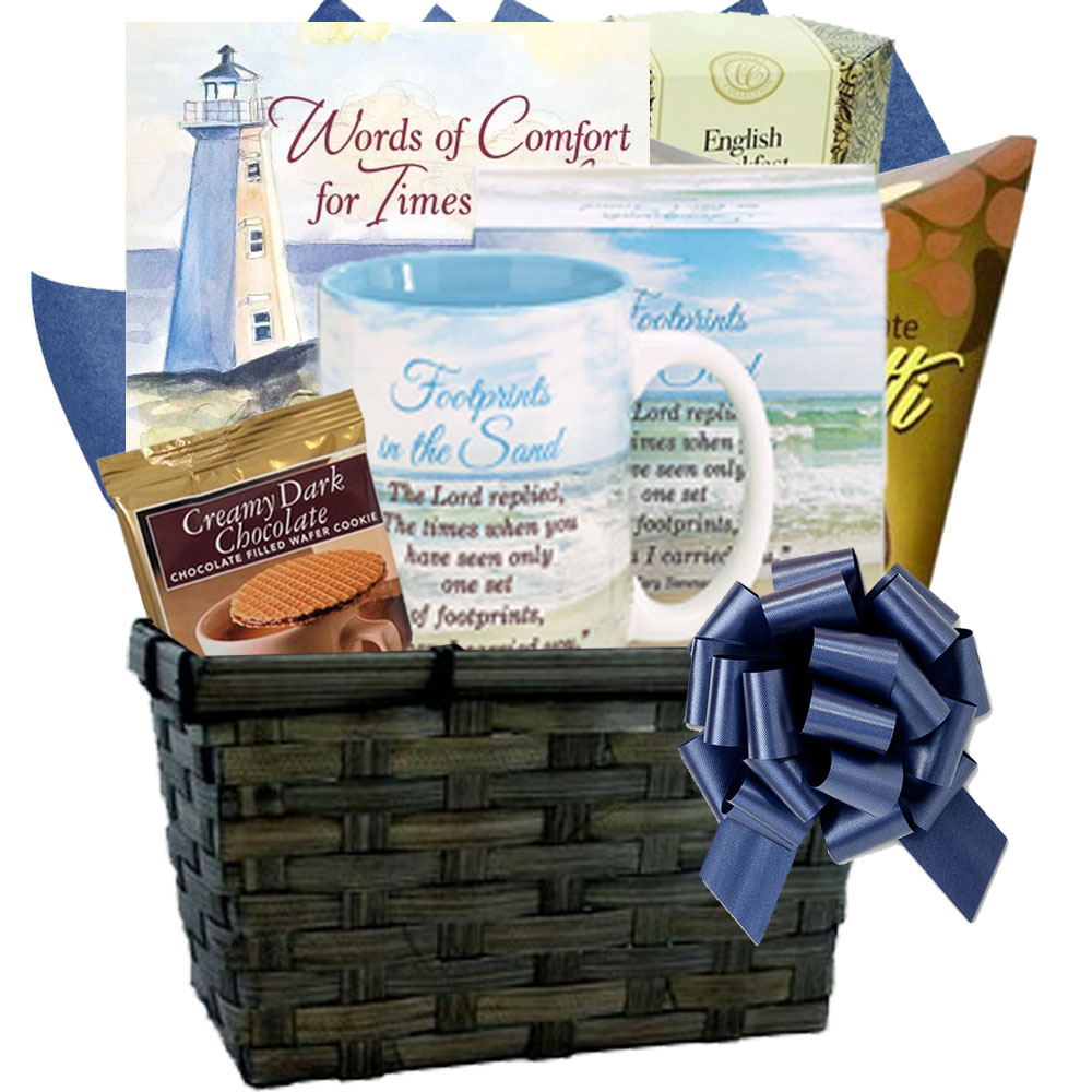 Christian Art and Gifts. Words of Comfort Sympathy Gift Basket