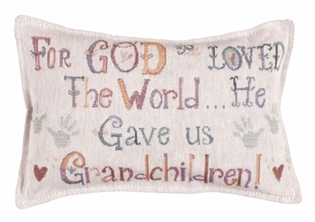 World Tapestry Pillow - Grandchildren