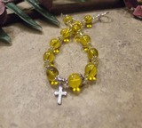 """Yellow"" Women's Inspiration Edition Prayer Bracelet"