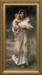 Young Shepherdess by William Adolphe Bouguereau - 5 Framed Options
