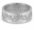 Your Love Is Better Than Wine Bible Verse Wedding Band - 14k White Gold
