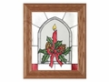 Yuletide Candle Aglow Christmas Stained Glass Art