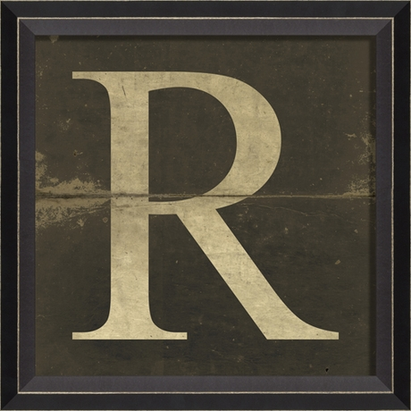 District17: Alphabet Letter R Framed Wall Art: Framed Art