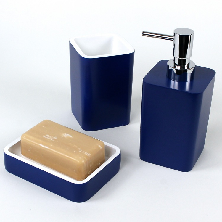 Navy blue bathroom accessories sets 28 images navy for Navy bathroom accessory sets