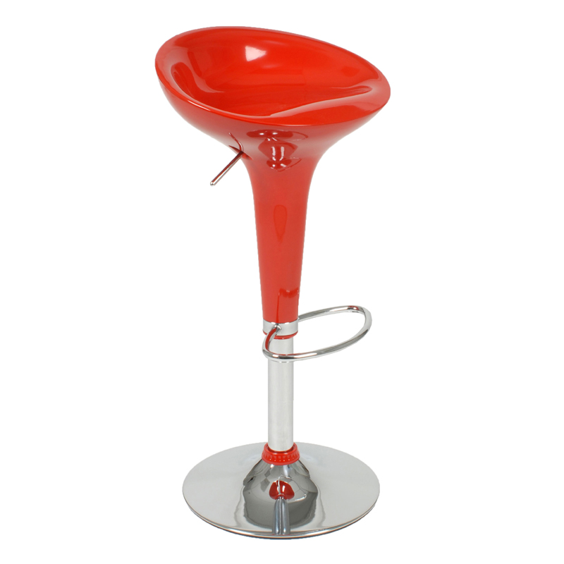 District17 Ashby Bar And Counter Stool In Red And Chrome