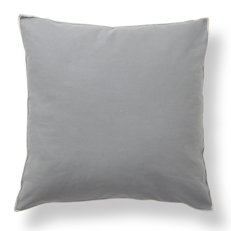 District17 Basic Elements Solid Dark Grey Throw Pillow