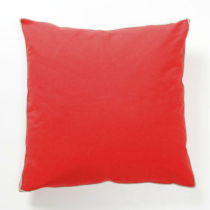 District17: Basic Elements Solid Red Throw Pillow: Pillows
