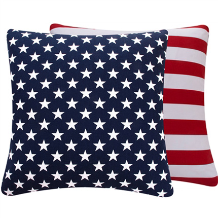 District17: Blue and Red USA Large Throw Pillow: Pillows