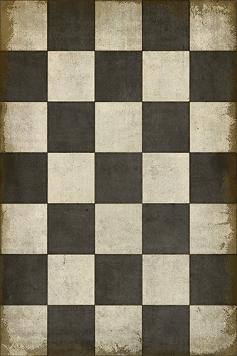 District17 Checkered Past Vinyl Floorcloth Patterned Rugs