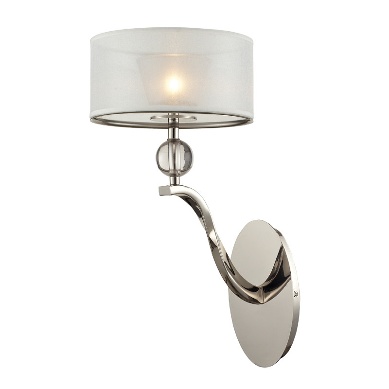 Bathroom Wall Sconces Polished Nickel : District17: Corisande Sconce In Polished Nickel: Wall Sconces