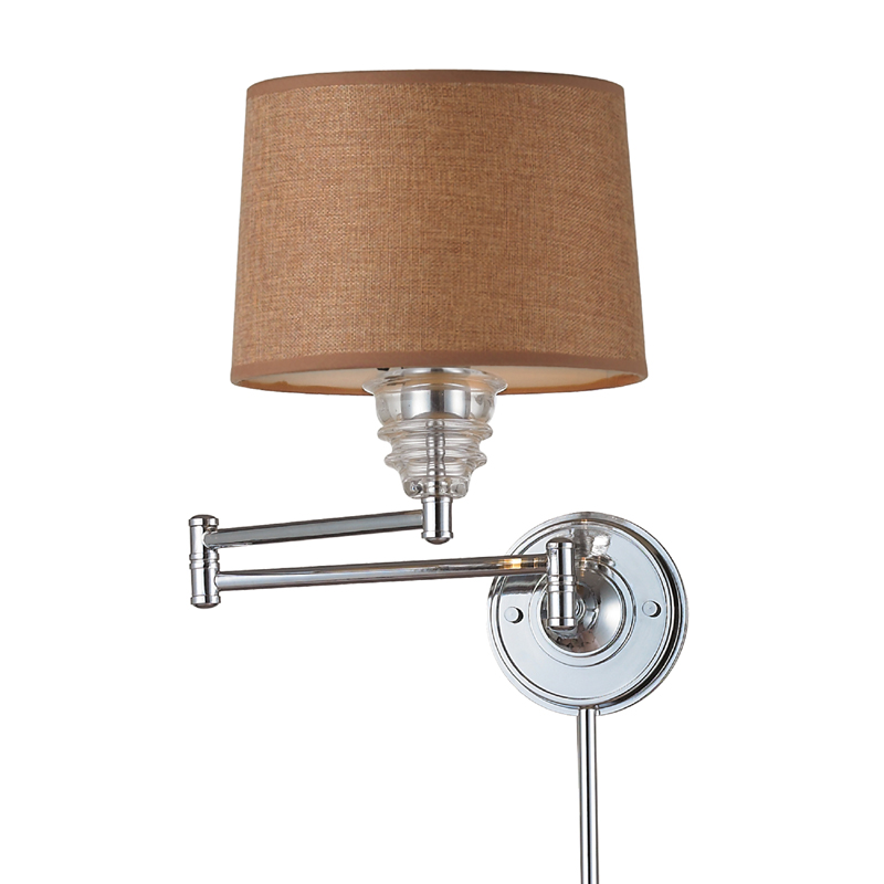 Wall Sconces Polished Chrome : District17: Downtown Glass Swingarm Sconce In Polished Chrome: Wall Sconces