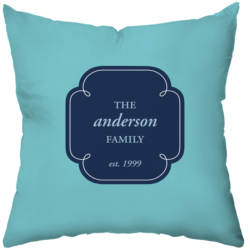 District17: Family Monogram Personalized Throw Pillow: Pillows,Personalized Items