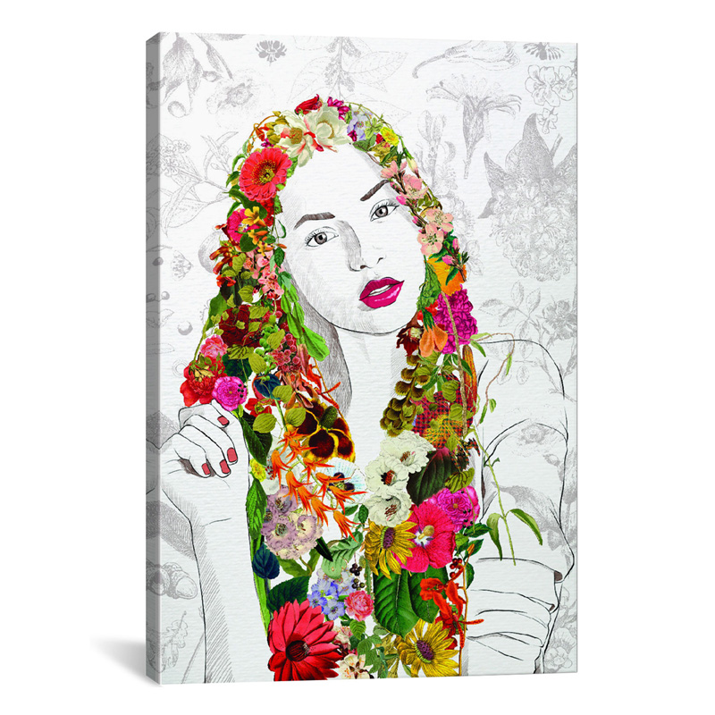district17 flower fairy canvas wall art canvas wall art. Black Bedroom Furniture Sets. Home Design Ideas