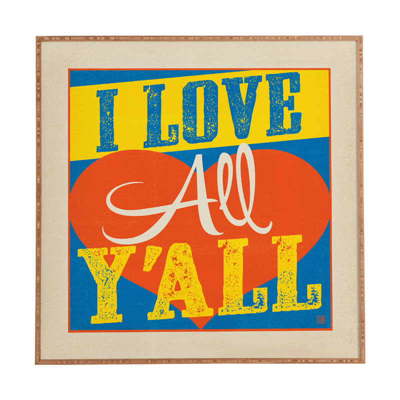 Framed Love Wall Decor : District i love all yall framed wall art