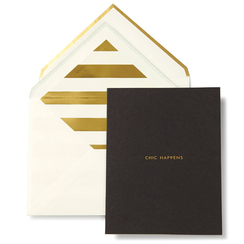 Case Design lifeguard phone cases : District17: Kate Spade Black Chic Happens Greeting Card: Gift Sets