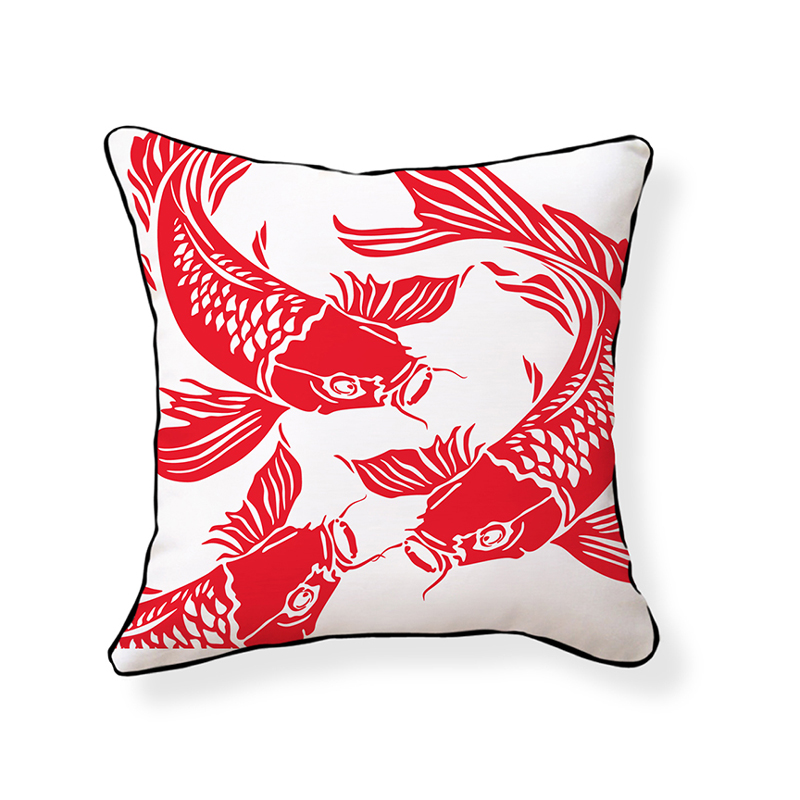 District17 koi fish throw pillow pillows for Koi fish pillow