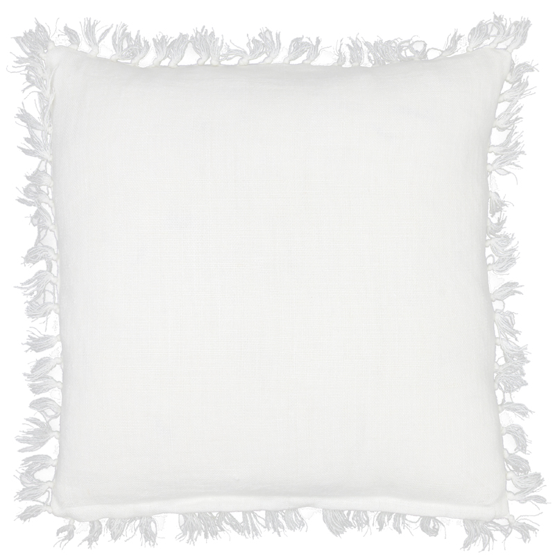 District17: Laundered Linen White Square Pillow: Pillows