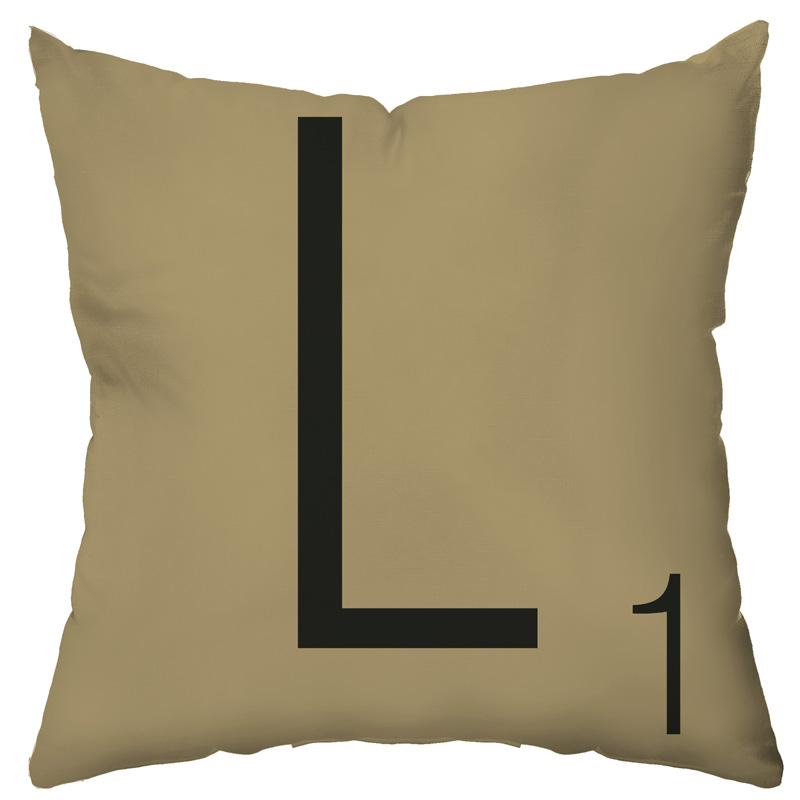 District17: Letter Tile Personalized Throw Pillow: Pillows,Personalized Items