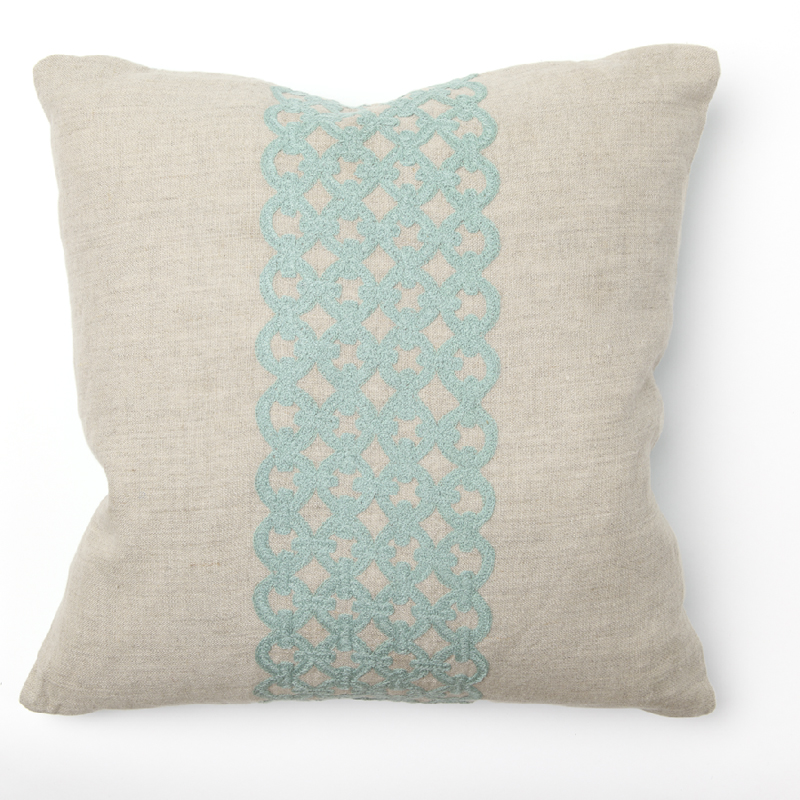 district17 link turquoise embroidery throw pillow pillows