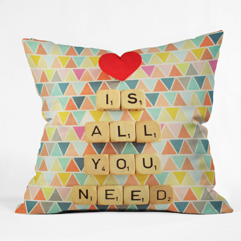 District17: Love Is All You Need Throw Pillow: Pillows