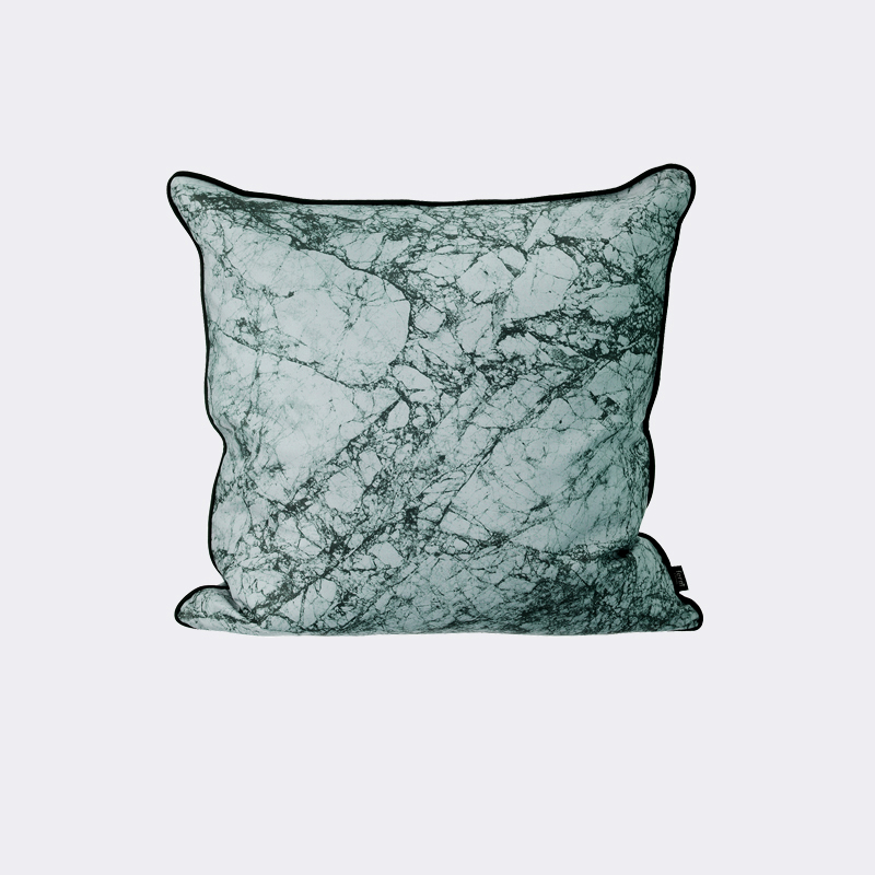 Dusty Blue Decorative Pillows : District17: Marble Throw Pillow in Dusty Blue: Pillows