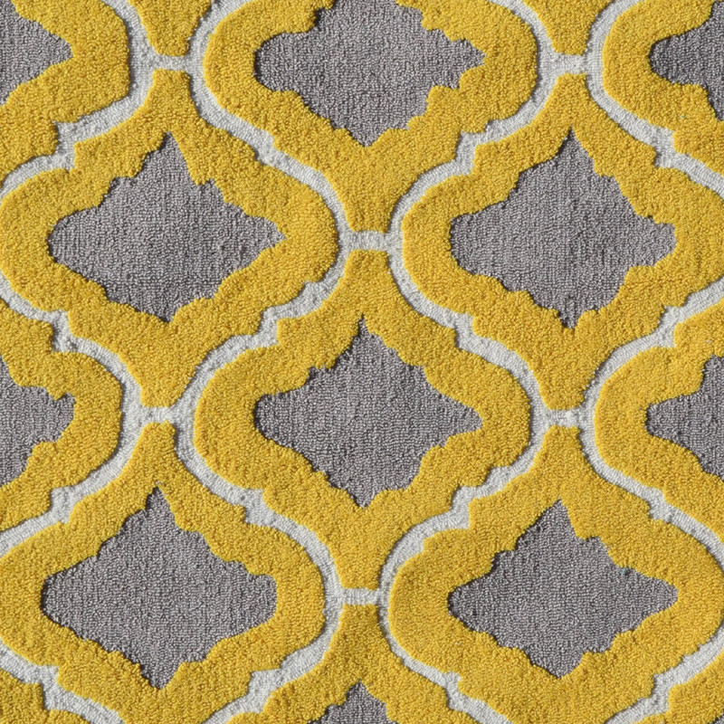 District17 Marrakesh Yellow Rug Patterned Rugs
