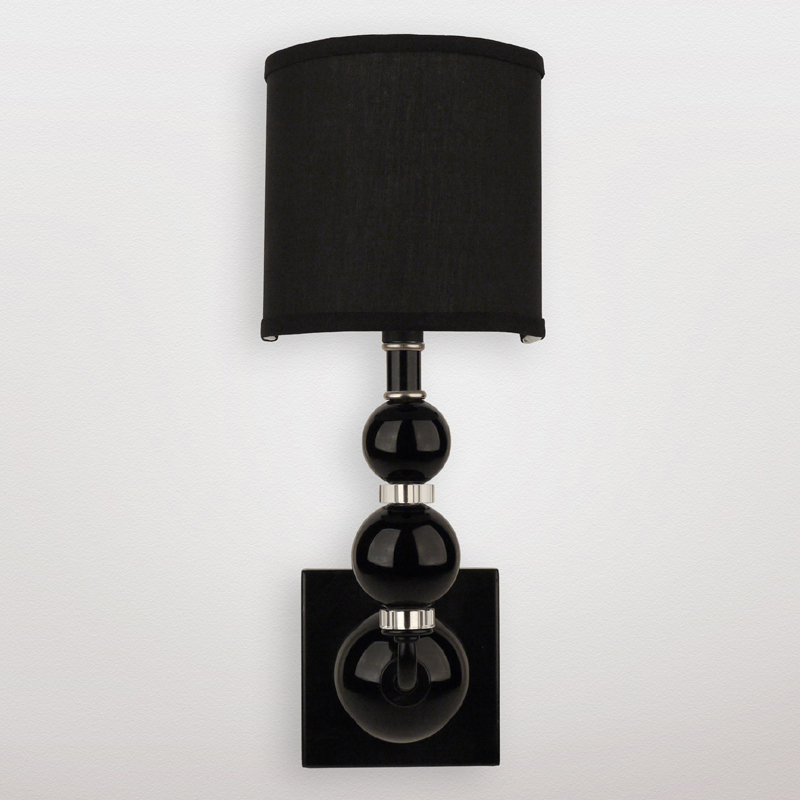 Black Crystal Wall Sconces : District17: Mars Black Crystal Sphere Wall Sconce: Wall Sconces