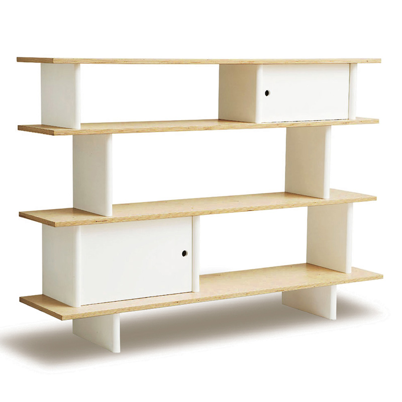 district17 mini library book shelf in birch and white. Black Bedroom Furniture Sets. Home Design Ideas