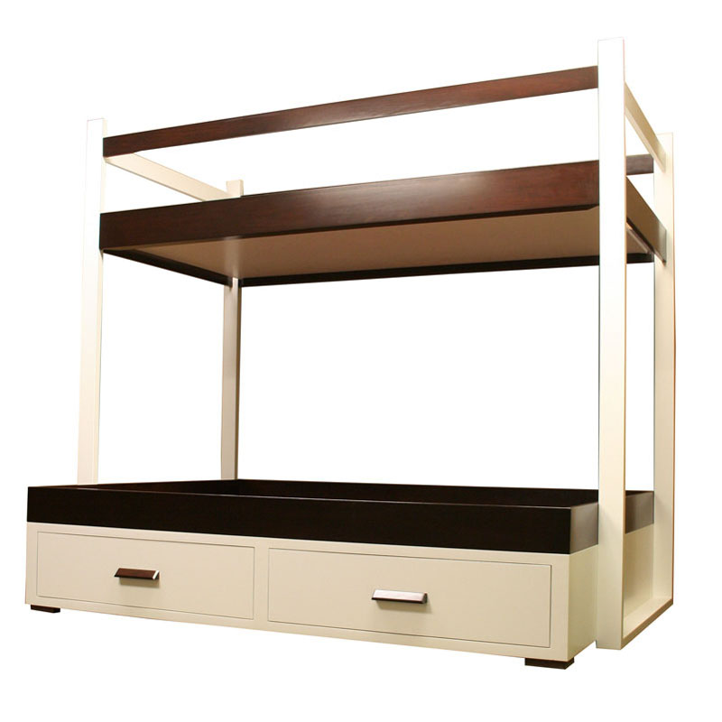 District17 Modern Twin Over Full Bunk Bed Beds