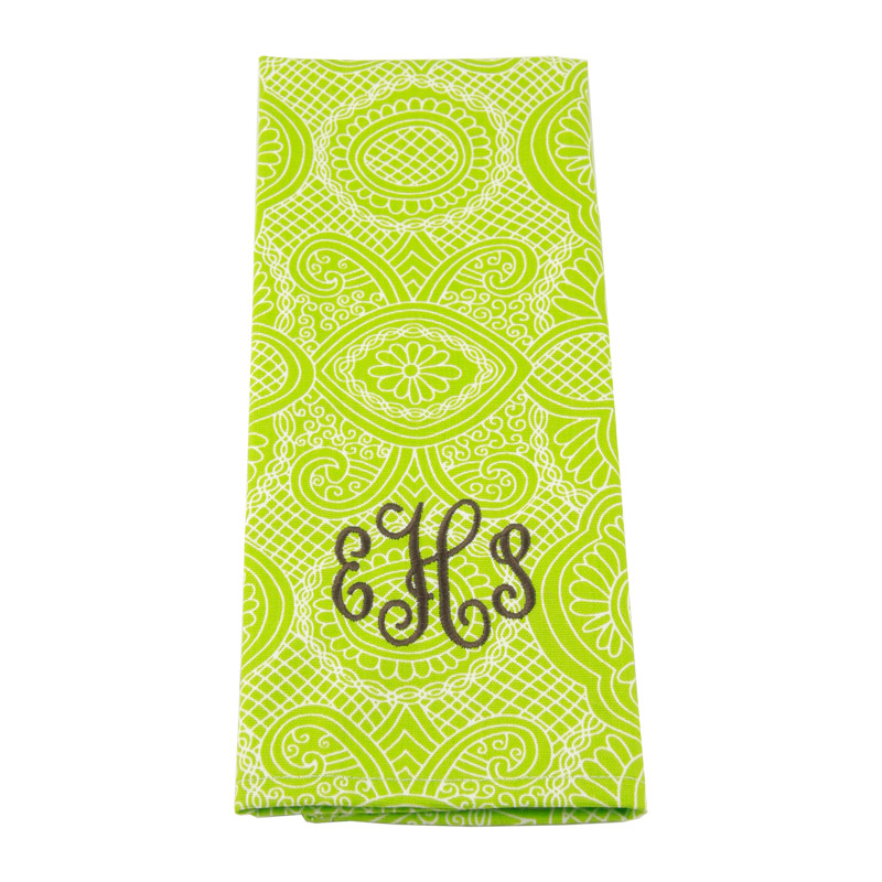 District17 Monogrammed Kitchen Towels Table Linens Personalized Items