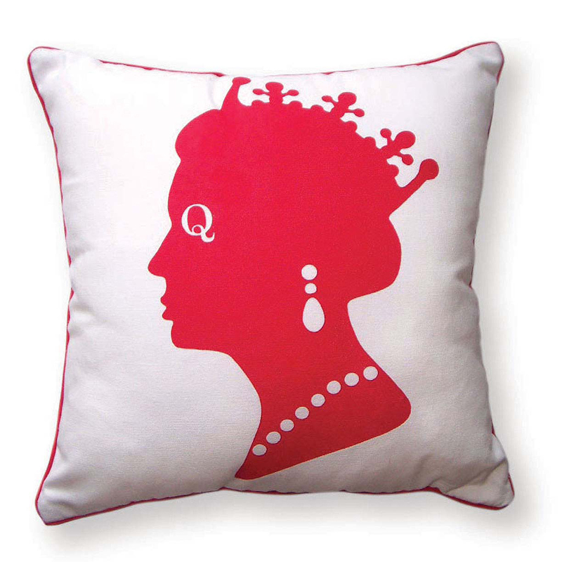 District17: Queen Reversible Throw Pillow in Red, White and Blue: Pillows