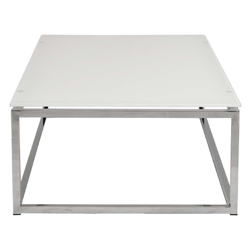 District17 sandor coffee table in pure white glass and for White and glass coffee table