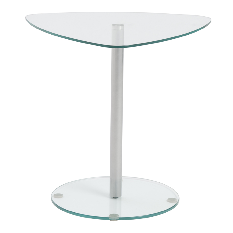 district17 sarafina glass side table in clear tables