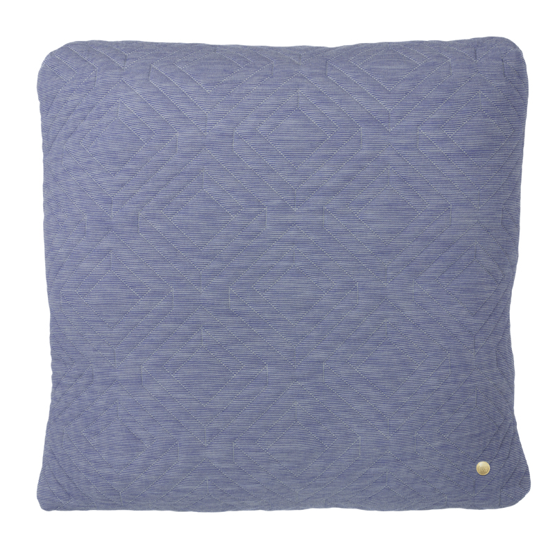 Throw Pillows Like Anthropologie : District17: Square Quilt Cushion Throw Pillow in Light Blue: Pillows