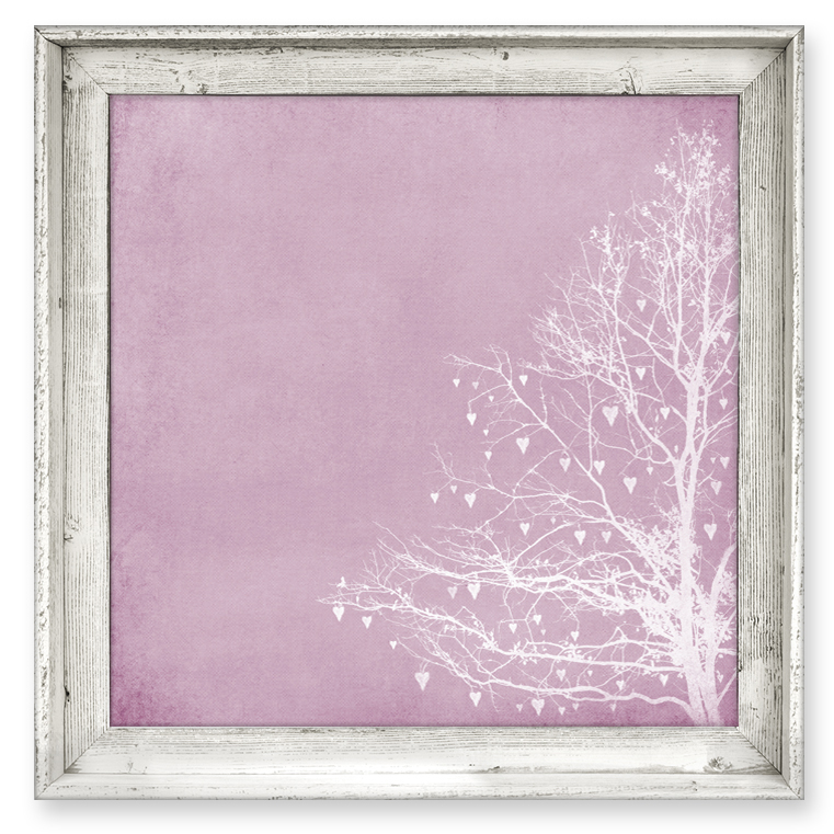 Framed Love Wall Decor : District tree of love raspberry framed canvas wall art