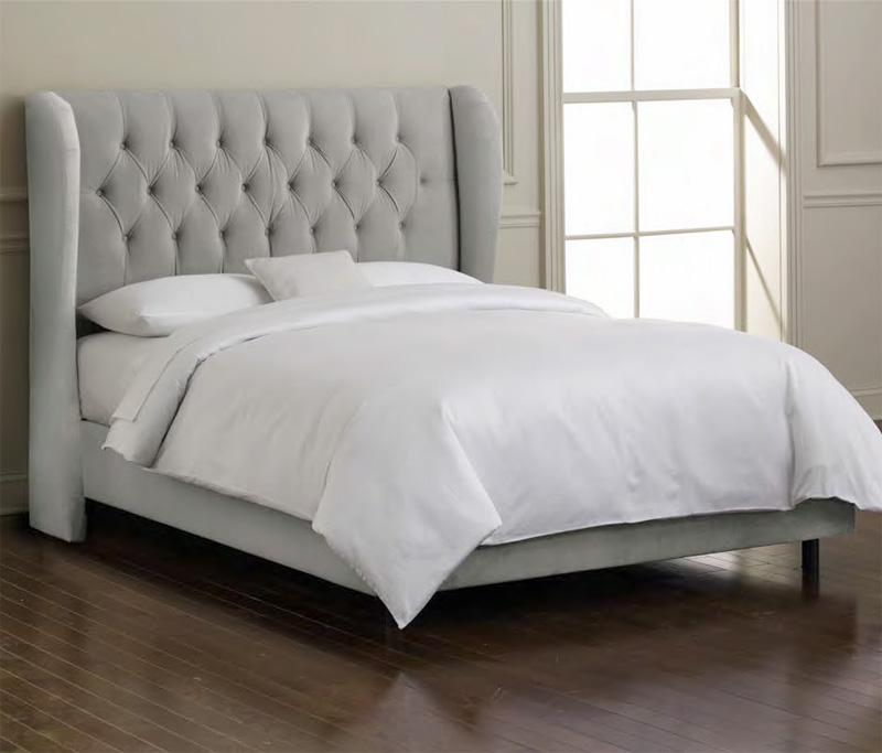 District17 Tufted Wingback Upholstered Bed Beds