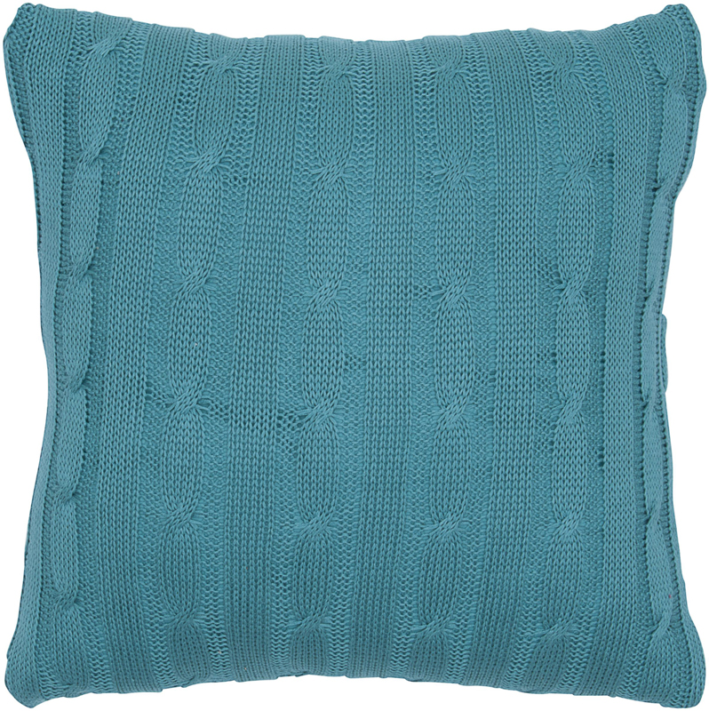 District17: Turquoise Cable Knit Throw Pillow: Pillows