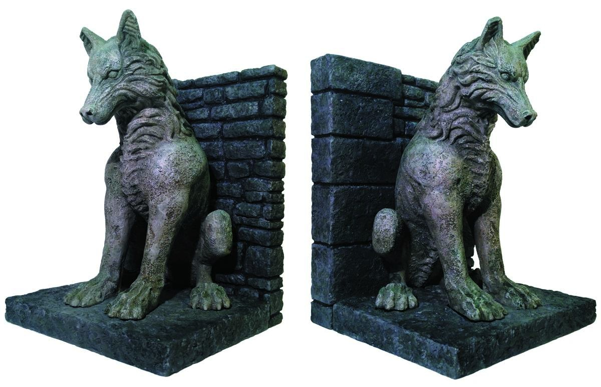 Game of thrones dire wolf bookends - Dire wolf bookends ...