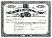 Automobile Advertising Co Stock early 1900s