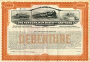 New York New Haven & Hartford RR Bond 1923