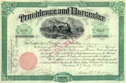 Providence & Worcester RR Stock 1893