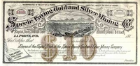 Specie Paying Gold & Silver Mining Stock 188_