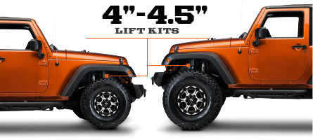 jeep jk lift kits 2007 2016 wrangler free shipping. Black Bedroom Furniture Sets. Home Design Ideas