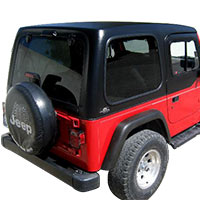 jeep tj tops and accessories 1997 2006 wrangler free shipping. Black Bedroom Furniture Sets. Home Design Ideas
