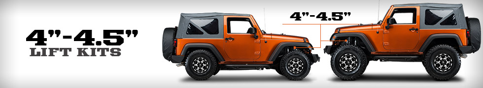 jeep wrangler 4 4 5 inch lift kits free shipping. Black Bedroom Furniture Sets. Home Design Ideas